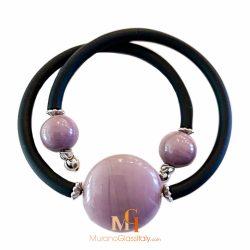 venetian glass bead bracelet