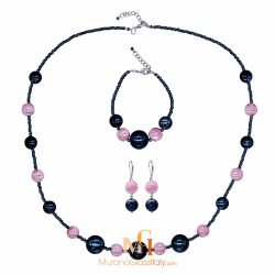murano glass earrings and necklace set