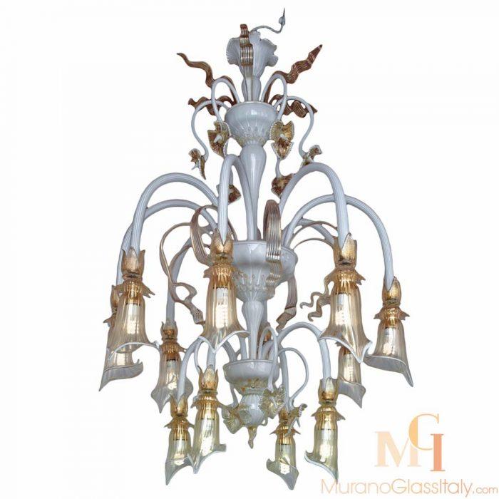 modern blown glass chandelier