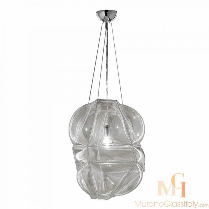 suspension luminaire verre soufflé