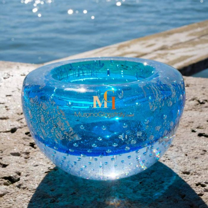 murano glass candy dish