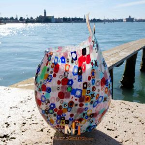 Aphrodite - Murano Multi Coloured Glass Vase - Back