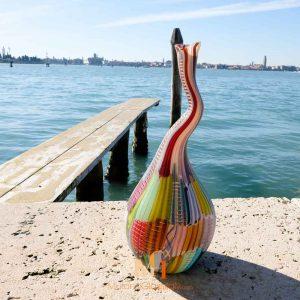 tall murano glass vase
