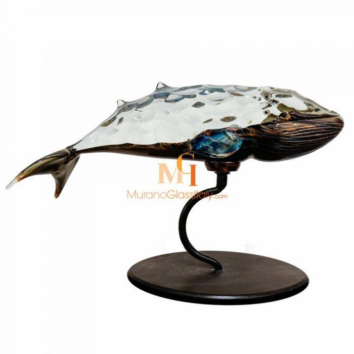 murano glass whale