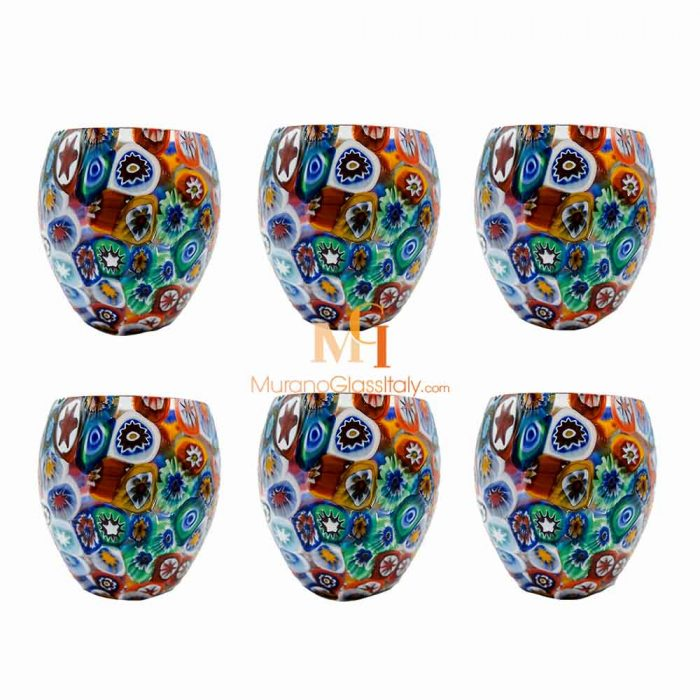 millefiori glasses
