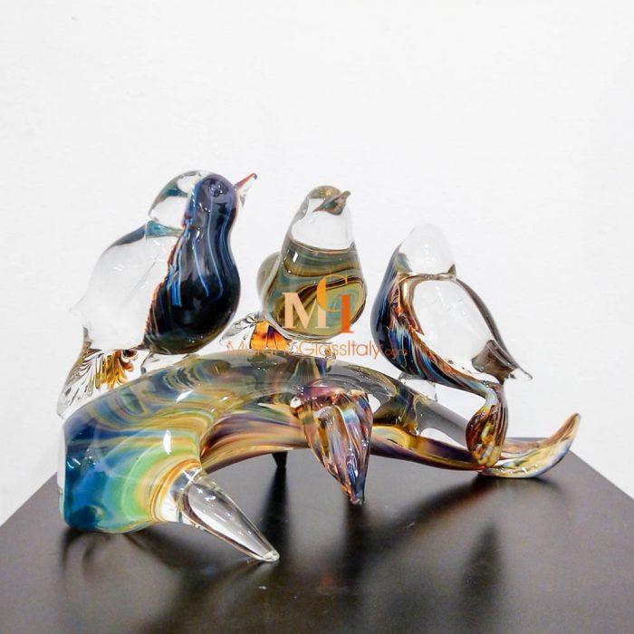 murano glass bird figurines