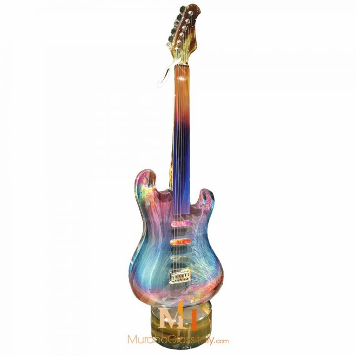 murano glass guitar