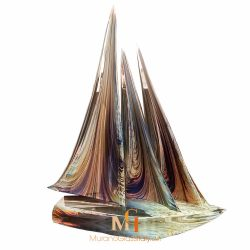 glass sailboat sculpture
