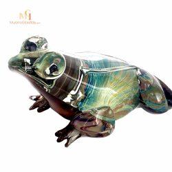 murano glass frog