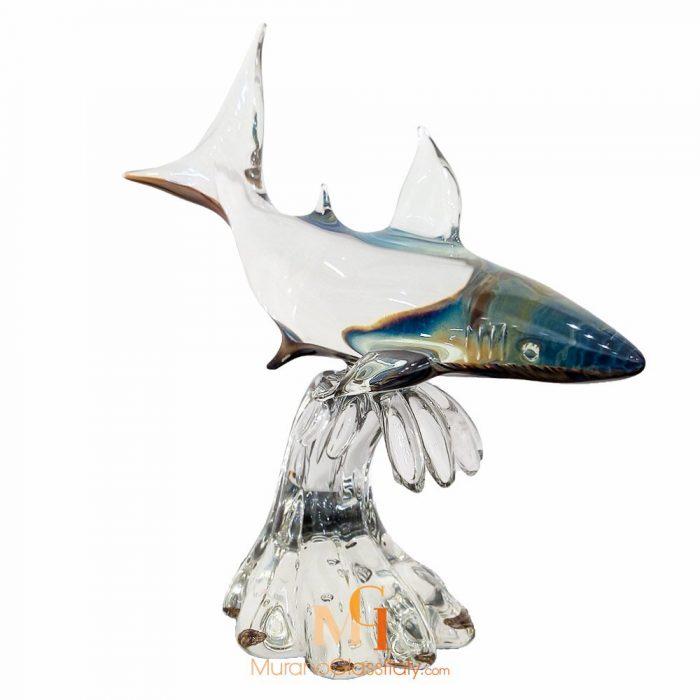 murano glass shark