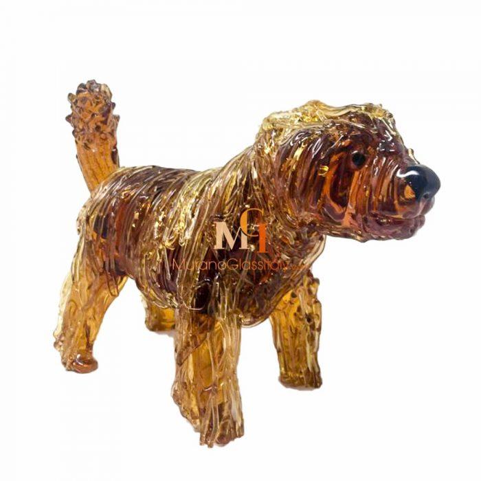 glass dog statue