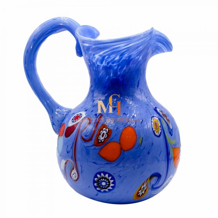 murano glass jug
