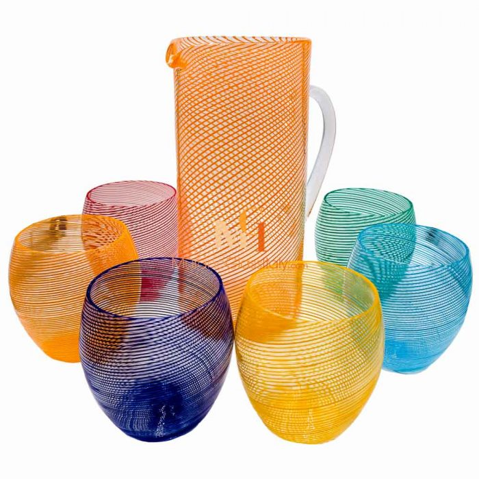 blown glass drinking glasses