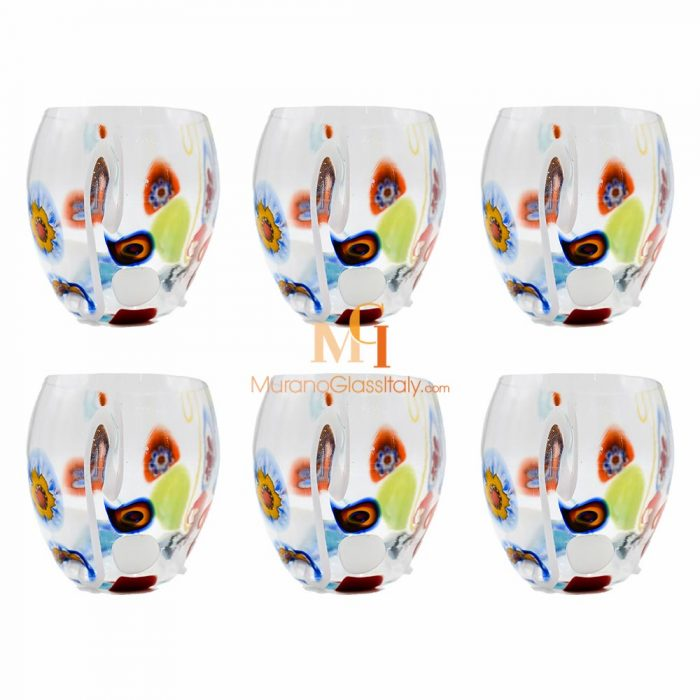 millefiori drinking glasses