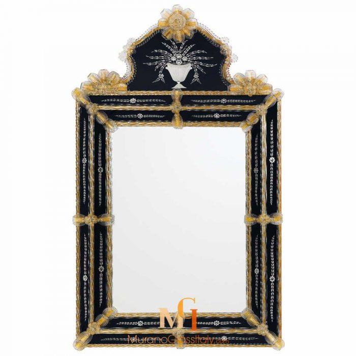 miroir noir design