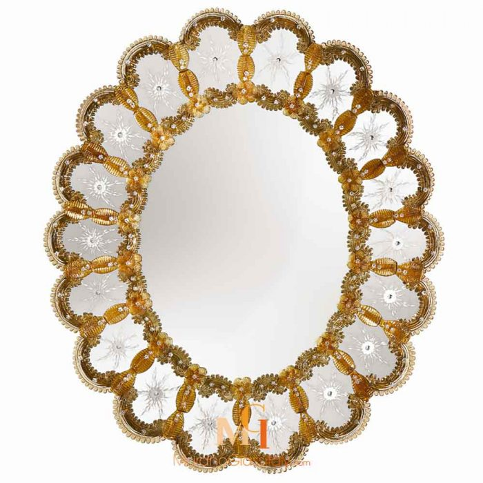 miroir rond design salon