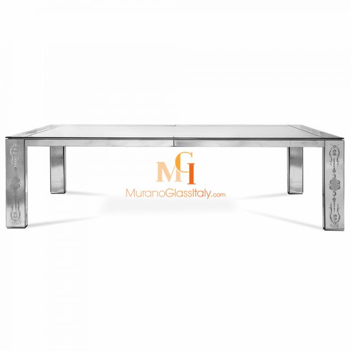 venetian mirrored dining table