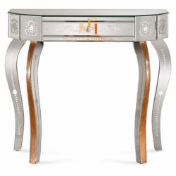 venetian glass console table