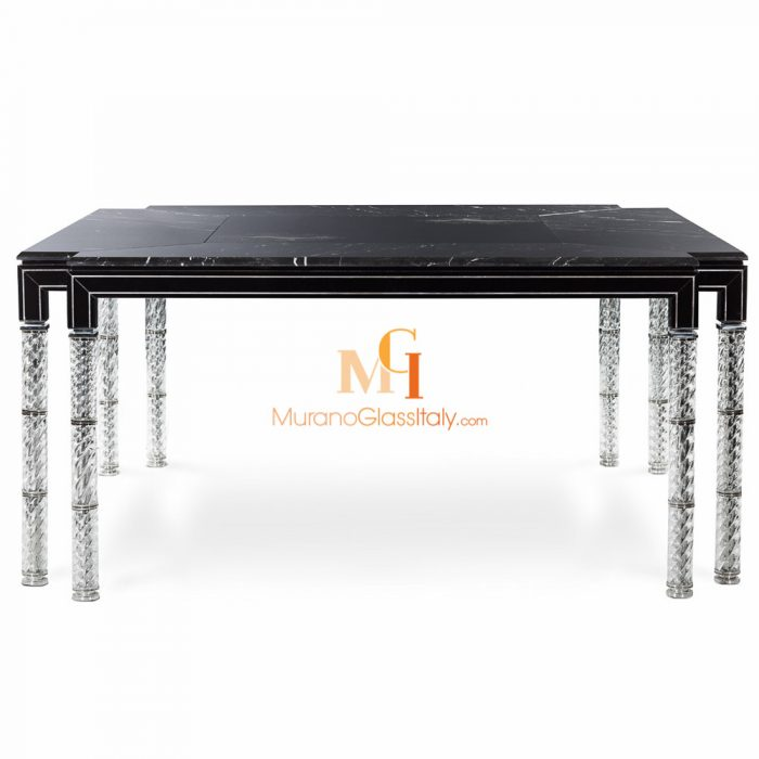 marble glass dining table