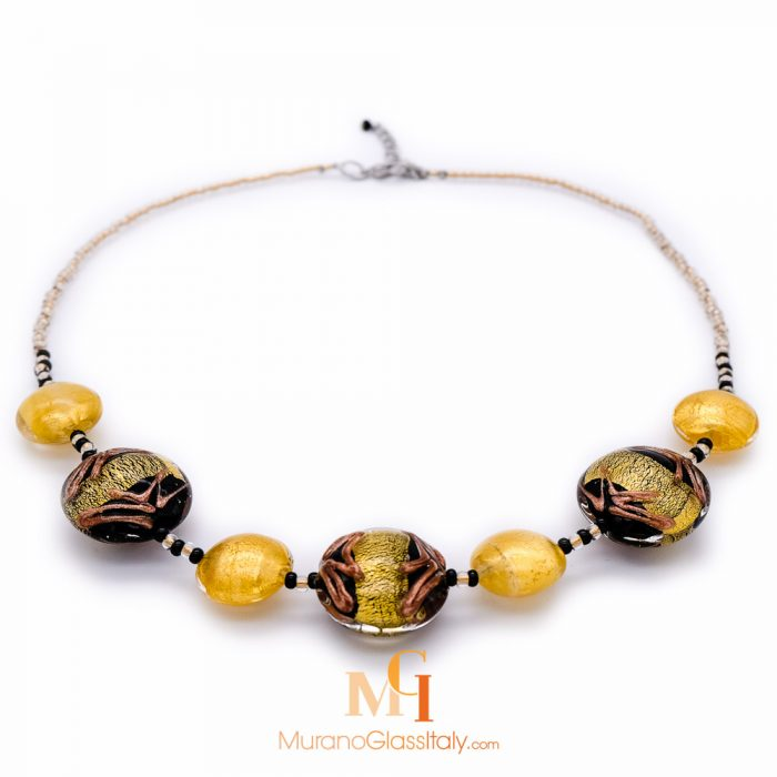 murano glass statement necklace