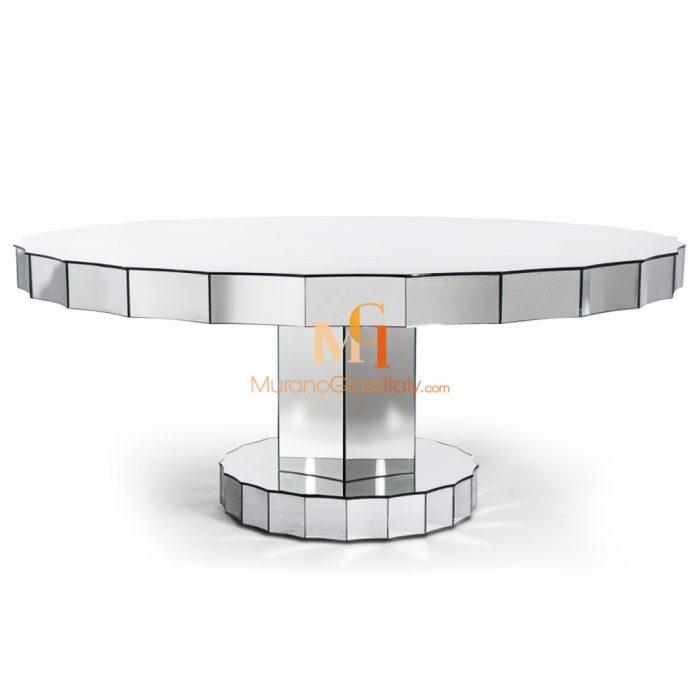 table ronde en verre design italien