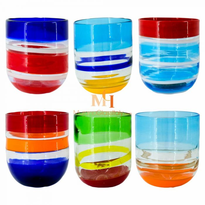 wasserglas farbig