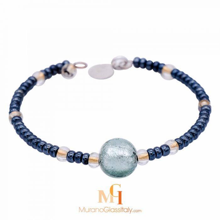 bracelet avec perles en verre de murano