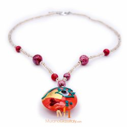 murano glass pendant necklace