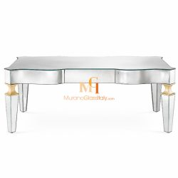 venetian mirrored coffee table