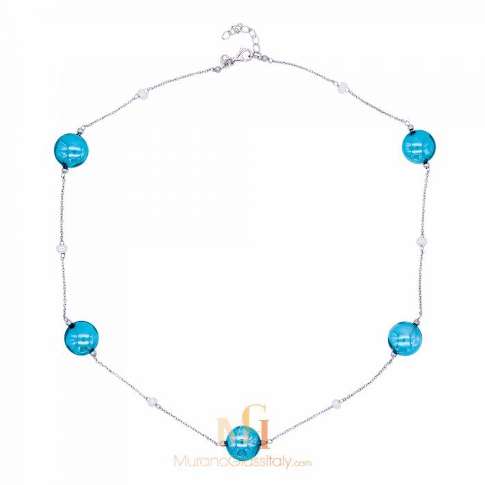 collier verre murano