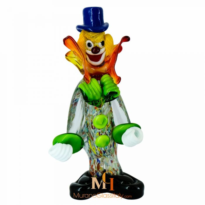 murano glass clown figurines