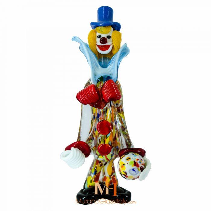 clown murano glass figurines