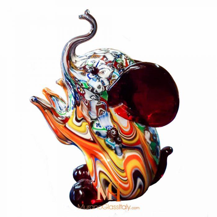 elephant en verre de murano