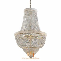 cascading crystal chandelier